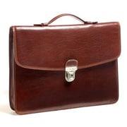 Tony Perotti Italico Leather Briefcase; Cognac