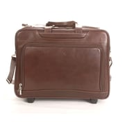 Tony Perotti Green Torino Leather Laptop Briefcase; Brown