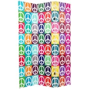 Oriental Furniture 71.25'' x 47.25'' Double Sided Peace 3 Panel Room Divider
