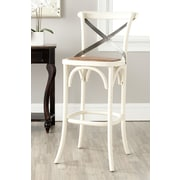 Safavieh Eleanor 30.7'' Bar Stool with Cushion; Ivory