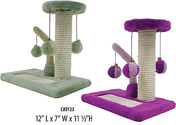 Penn Plax 2 Piece Kitty Activity Center Sisal Scratching Post Set WYF078277826872