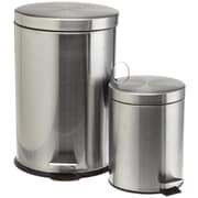Cook Pro 2 Piece Stainless Steel Trash Can Set