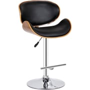 Creative Images International Adjustable Height Swivel Bar Stool; Black