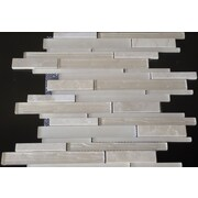 Mulia Tile Loft Random Sized Marble and Glass Mosaic Tile in Multi-colored