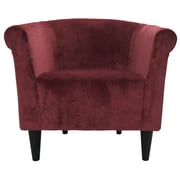Fox Hill Trading Savannah Barrel Chair; Wine