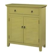 Wildon Home   1 Drawer 2 Door Console; Honey Butter