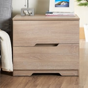 Hokku Designs Danita End Table; Weathered Wood