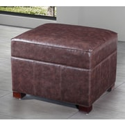 NOYA USA Classic Storage Ottoman; Dark Brown