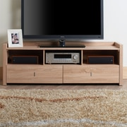 Hokku Designs Hull TV Stand; Weathered Wood