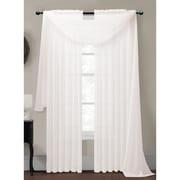 Window Elements Diamond Curtain Sheer Single Panel Scarf; White
