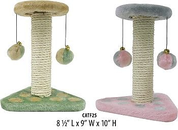 Penn Plax 2 Piece Kitty Activity Center Sisal Scratching Post Set WYF078277826873