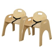 Wood Designs Wood Classroom Chair  (Set of 2); 13''