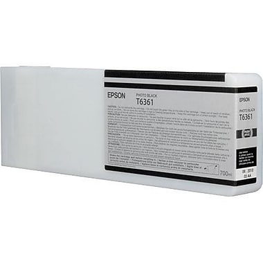 Epson T6361 (T636100), Photo Black Ink Cartridge, High Yield