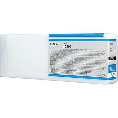 Epson T6362 (T636200), Cyan Ink Cartridge, High Yield