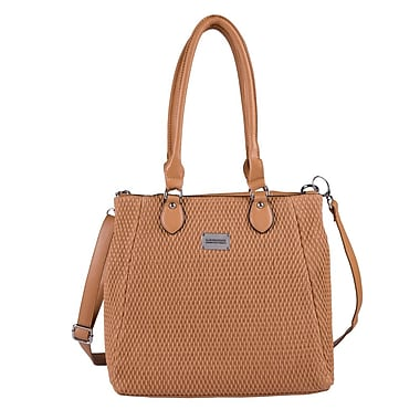 Club Rochelier Quilted Tote, Cognac