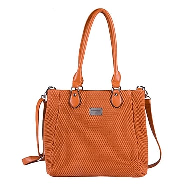 Club Rochelier Quilted Tote, Orange