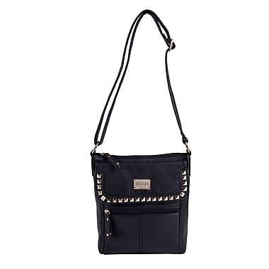 Club Rochelier Studded Crossbody Bag, Black