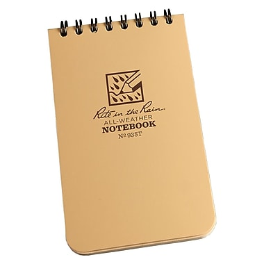 Rite in the Rain #935T All-Weather Pocket Top-Spiral Notebook, Universal Page Pattern , 3