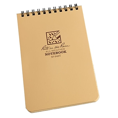 Rite in the Rain #946T All-Weather Pocket Top-Spiral Notebook, Universal Page Pattern , 4