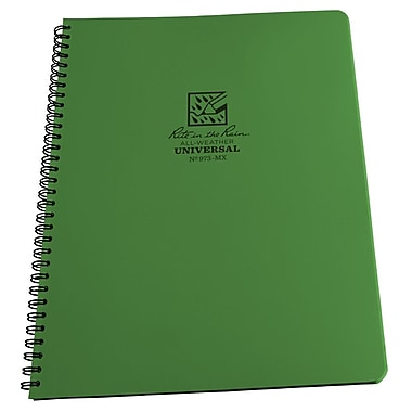 Rite in the Rain #973-MX All-Weather Maxi Side-Spiral Notebook, Universal Page Pattern , 8-1/2