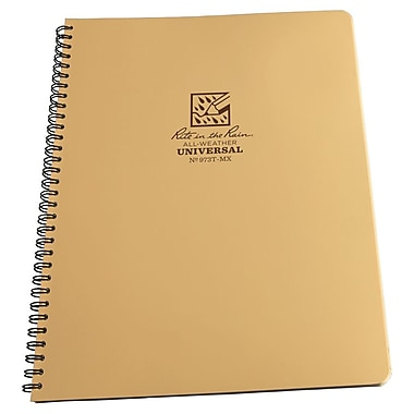 Rite in the Rain #973T-MX All-Weather Maxi Side-Spiral Notebook, Universal Page Pattern , 8-1/2
