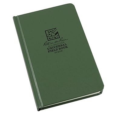 Rite in the Rain – Livret toute épreuve n° 970F, motif universel, 4 3/4 po x 7 1/2 po, couverture Fabrikoid verte, 160 pages