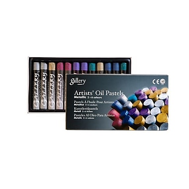 Rose 78-106 Soft Metallic Oil Pastels, Jumbo Size, 12 Pastels/Case, 12 Cases/Pack