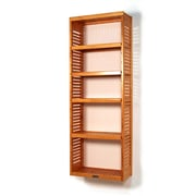 John Louis Home 12'' Deep Stand Alone Tower with Adjustable Shelves; Honey Maple