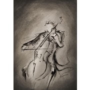 PrestigeArtStudios The Cellist Painting Print