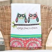 Glory Haus A Faithful Friend Is A Treasure Owl Tea towel