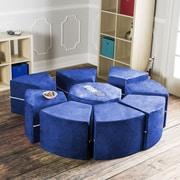 Jaxx Jaxx Octagon Arrangement Kids Novelty Chair; Blueberry