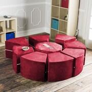 Jaxx Jaxx Octagon Arrangement Kids Novelty Chair; Cherry