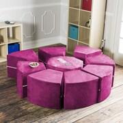 Jaxx Jaxx Octagon Arrangement Kids Novelty Chair; Fuchsia