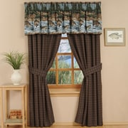 Wildon Home River Fishing Cotton Rod Pocket Curtain Panels (Set of 2) by
