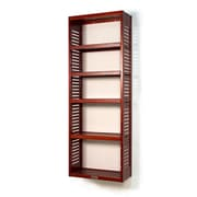 John Louis Home 12'' Deep Stand Alone Tower with Adjustable Shelves; Red Mahogany
