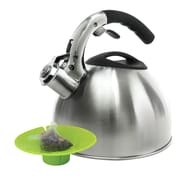 Primula Soft Grip 3-qt. Tea Kettle with Tea Bag Buddy; Stainless Steel
