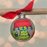 Glory Haus Stocking Glass Ball Ornament