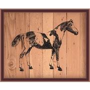 PrestigeArtStudios Horse on Planks Framed Painting Print