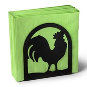 Spectrum Diversified Silhouettez Pantry Rooster Napkin Holder in Black