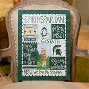 Glory Haus Michigan State Spirit Graphic Art on Canvas