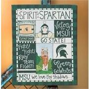 Glory Haus Michigan State Spirit Magnet Graphic Art