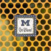 Glory Haus Michigan Go Blue! Magnet Textual Art