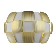 Access Lighting Layers 2 Light Wall Sconce; Gold