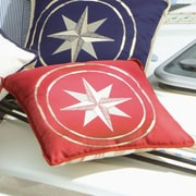 MB Coastal Designs Free Style North Star Throw Pillow (Set of 2); Burgundy