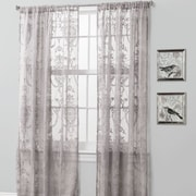 Lush Decor Anya Window Curtain Panel (Set of 2); Gray