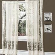 Lush Decor Anya Window Curtain Panel (Set of 2); Pale Yellow