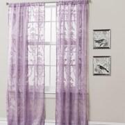 Lush Decor Anya Window Curtain Panel (Set of 2); Purple