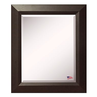 Rayne Mirrors Jovie Jane Walnut Wall Mirror; 35.75'' H x 35.75'' W x 2.75'' D