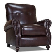 Opulence Home Benjamin Leather Press Back Arm Chair; Naples Chestnut