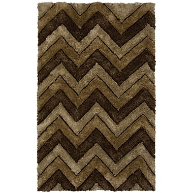 Chandra Filix Brown/Tan Area Rug; 5' x 7'6''